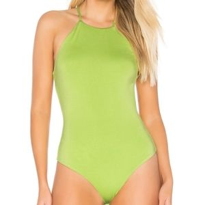 Lime Green Bodysuit Privacy Please